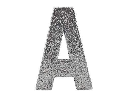 Primaflor - Ideen in Textil Glitter Styropor 3D Buchstaben Glitzer Buchstabe A 10cm Hoch Hochzeit Geburtstag Dekoration Party Deko (Buchstaben Groß Styropor)