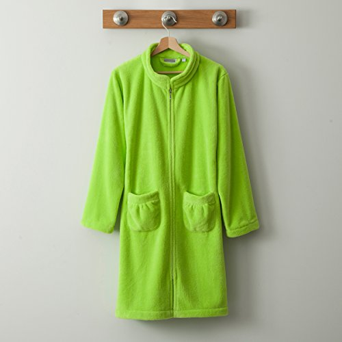 Tradition des vosges Accappatoio Melodie, colore: verde anice, Verde, S