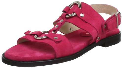 C. Doux NA 6390, Sandali donna, Rosso (Rot (fluo)), 37