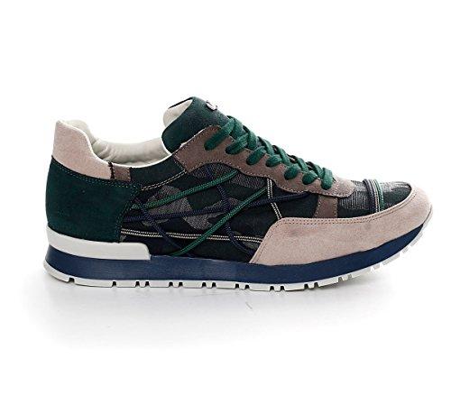 Scarpe Sneakers L4K3 LAKE Unisex Mr BIG Ecocamoscio Jeans Corda Camouflage (44 EU)