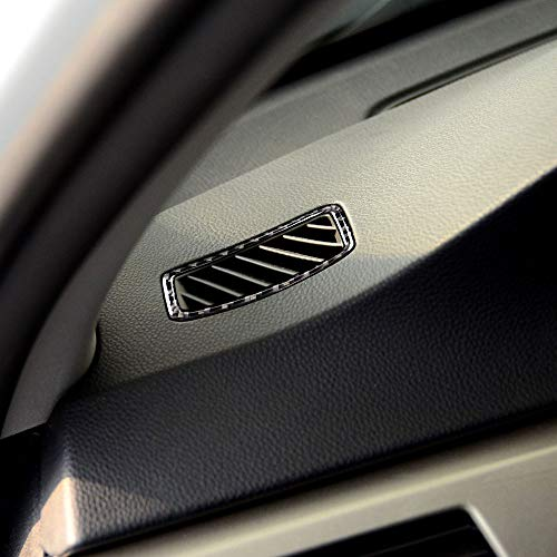 Carrfan Carbon Fiber Air Outlet Decoration Cover Sticker für BMW 3 Series E90 E92 E93 2005-2012 (Bmw E92 Carbon Fiber)