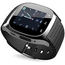 rwatch M26Bluetooth LED reloj con dial/llamada respuesta/SMS Recordando/Reproductor de música/Anti–perdido/pas...