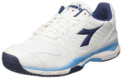 Diadora S.Comfort SL 8 AG, Scarpe da Tennis Uomo, (Bianco Blu Estate), 42 EU