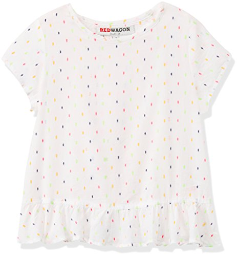 RED WAGON Girl's Frill Trim Dobby Top