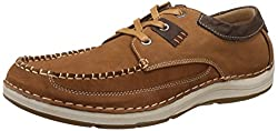 Action Shoes Mens Brown Leather Boat Shoes - 6 UK/India (40 EU)(C-35-3008)