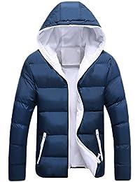 YuanDian Uomo Inverno Taglie Forti Giù Cotone Imbottito Cappotto con  Cappuccio Addensare Caldo Impermeabile Antivento Tasche 8e80e9469ce