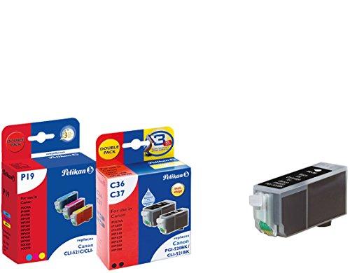 Pelikan Druckerpatronen 5+1 ersetzen (Canon PGI-520BK, CLI-521BK, CLI-521C, CLI-521M, CLI-521Y)