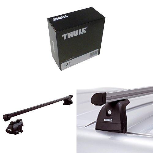 Preisvergleich Produktbild Thule Kit 4022 + Thule 761 Dachträger + Thule 753 Fußsatz für Autos mit integrierter Dachreling