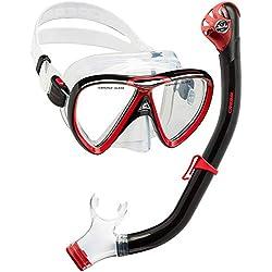 Cressi Ikarus & Orion Dry Kit de randonnée Aquatique Adulte Mixte, Transparent/Noir/Rouge, Unique