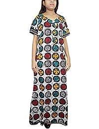 Indiatrendzs Women Cotton Nightdress Multicolor Printed Sleepwear Long  Nighty XXL 84711df9e