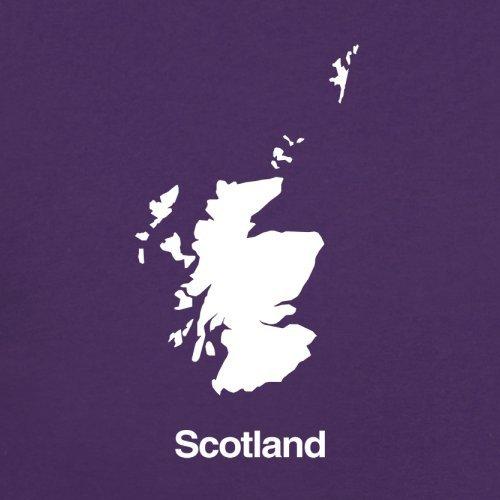 Scotland / Schottland Silhouette - Damen T-Shirt - 14 Farben Lila