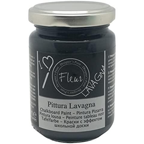 Fleur Paint 11009 - Pintura (transforma superficies en pizarra, 130 ml) color blackboard