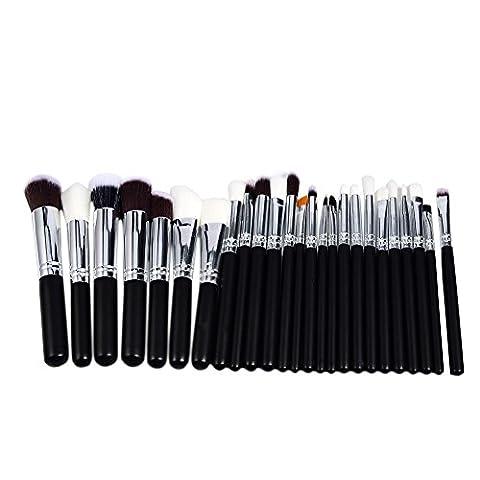 Molie Pinceaux Maquillage Professionnel 25pcs/set Noir Pinceau Yeux Fond de Teint Blush Poudre Liquide