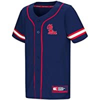 """Mississippi Ole Miss Rebels NCAA """"Play Ball"""" Youth Button Up Baseball Jersey"""