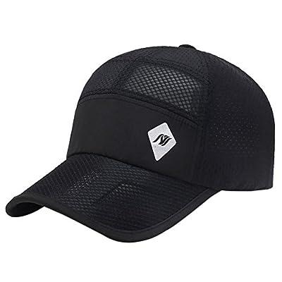 KUSHEN Outdoor-Netzmütze für Männer und Frauen Schnell Trocknende Sommerkappe Sonnenhut Baseballmütze Schwarz von KUSHEN auf Outdoor Shop