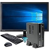 """SNOGARD Office-Mini-PC Komplett Set / Bundle / AllinONE   Slim Desktop PC inkl. Windows 10 Home, 24"""" FULL HD Monitor, Wireless Maus und Tastatur, WLAN + Bluetooth   INTEL Core i3-8100T 4x3.10 GHz, 8GB RAM, 240GB SSD, Intel UHD 630 Graphics, HDMI, VGA,DVI, DVD±RW, USB 3.0   Mini-ITX Multimedia Computer"""