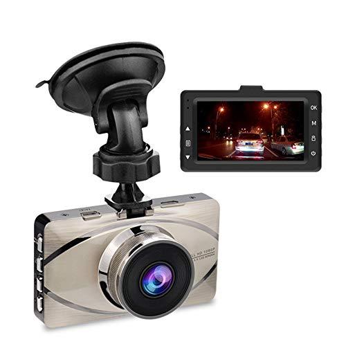 MIMI KING Dash Cam, FHD 1080P, 170 Grad Weitwinkel-Objektiv, Parküberwachung, 3-Zoll-Bildschirm, G-Sensor, Bewegungserkennung, Loop-Aufnahme, Metall-Rumpf mit 32G-Speicherkarte,Silver