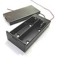 Goliton boîtier en plastique de support 2 * 18650 de la batterie avec on/ off interrupteur avec et couverture et fil