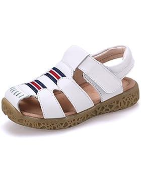 GESIMEI Sandalias Cuero Niña Niño Ligero Respirable Cerradas Sandalias Verano Zapatos de Playa