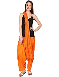 Mango People Products Full Cotton Patiala Salwar With Dupatta ( Special Orange)
