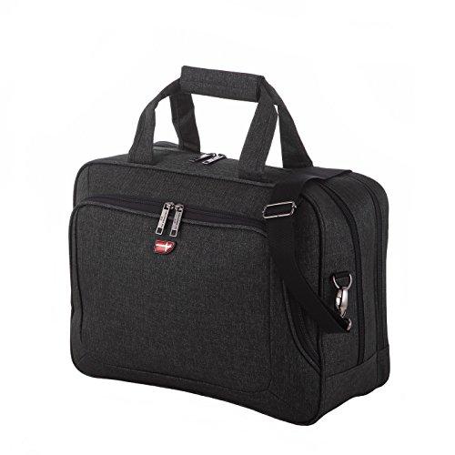 """Von Cronshagen """"Sören""""Laptop Flug Tasche Herren, Umhängetasche für Schule Uni mit Notebook Fach bis 15.6 Zoll, hochwertige Wasserabweisende Businesstasche für z.B. MacBook oder Surface"""