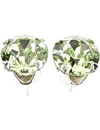 Nenalina silver handmade earrings with genuine peridot gemstone 222999-013 65GGk01oE