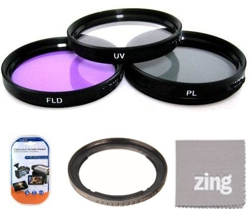 67mm Filter Kit For Canon SX30IS SX30 IS SX40 HS SX40HS SX50 HS SX50HS Digital Camera Includes Filter Adapter + 67MM 3PC Filter Kit (UV-CPL-FLD) + More!!