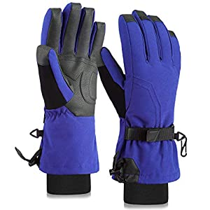 Fazitrip Skihandschuhe Damen Schi Handschuhe Snowboard Handschuhe Winter Sporthandschuhe mit 9010 Entendaunen