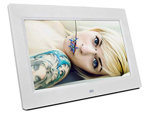 UNOKS 10.1 Zoll High-Definition Video Werbung Maschine Electronic Photo Album Digital Photo Frame Ultra-Thin, Pearl White