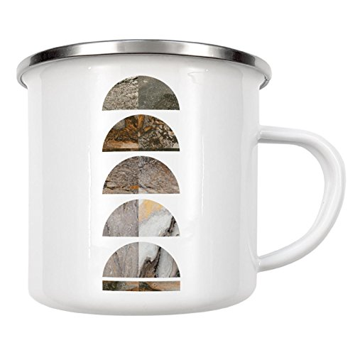 "artboxONE Emaille Tasse ""Earthy Marble"" von Paperblooming Prints - Emaille Becher Abstrakt"
