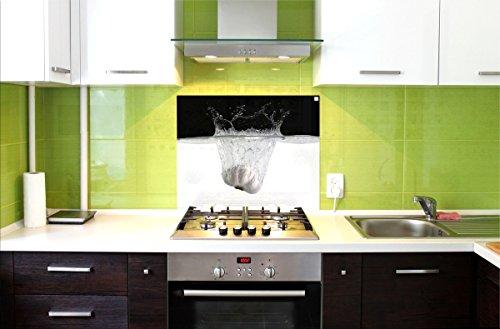 Paraschizzi pannello in vetro di protezione per cucina anti schizzo paraspruzzi aglio 75 - Pannello paraschizzi cucina ...