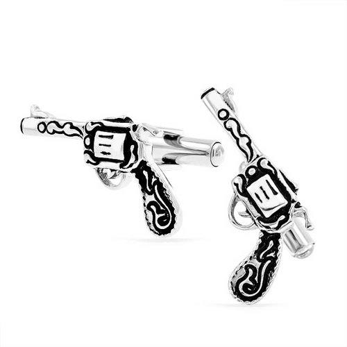 Bling Jewelry en Acier Inoxydable De Style Antique pour Homme De L'Ouest Arme Pistolet Revolver De Manchette