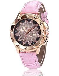Kaimus Reloj de Pulsera de Diamantes de imitación con Hebilla de Punta Redonda para Mujer Relojes