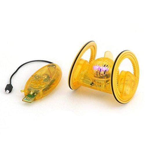Robot-Deskpets-Trekbot-con-control-remoto-controlable-para-Smartphone-por-Dongle-amarillo