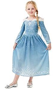 Frozen - Disfraz de princesa Elsa para niña, infantil 5-6 años (Rubie