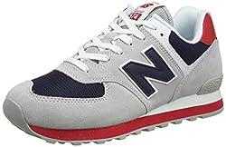 New Balance Herren 574v2 Sneaker, Weiß Rain Cloud, 44.5 EU