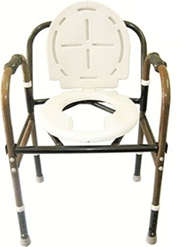 Albio Iron Commode Chair with Height Adjustable and Arm Rest