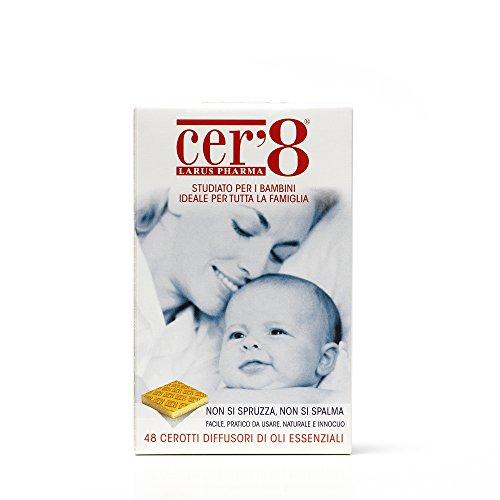 Cer'8 cerotti diffusori di oli essenziali puri micro incapsulati di citronella e eucalyptus citriodora - 6 confezioni da 25 g