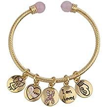 LUX accesorios I Am Love Campaña contra el cáncer de mama Diapositiva Encanto Pulsera