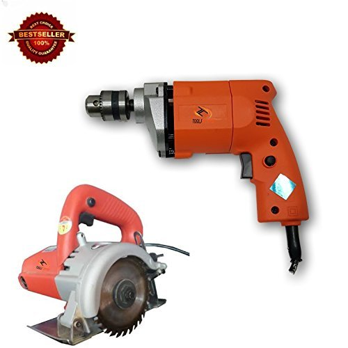 ToolsCentre TC-10A Combo of 10mm Drill and 4-inch Cutter Machine for Marble, Wood and Granite