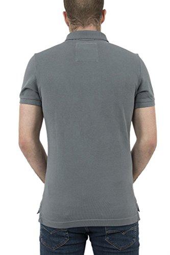 Superdry Herren Poloshirt Vintage Destroy Pique Warm Grey