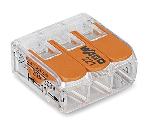 WAGO Kontakt Teknik Compact anslutningsklämma 221-413