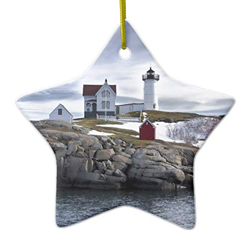 Tamengi The Nubble Cape Neddick Lighthouse York Maine Keramik-Ornament -