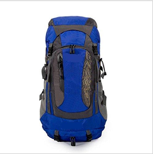 Xiuxiandianju 56-75L viaggio zaino outdoor escursionismo grande borsa zaino outdoor , black Blue