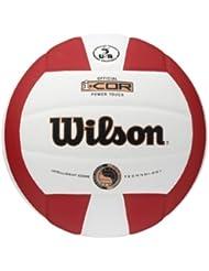 Wilson Volleyball i-Cor Power Touch Bronze, rot weiß