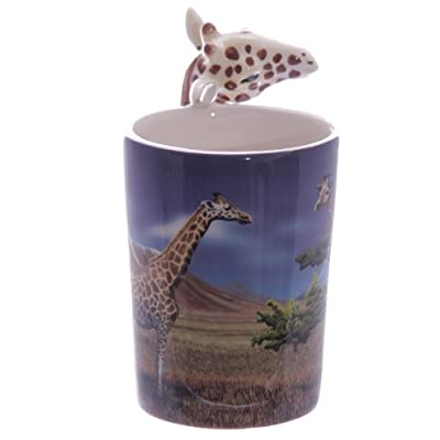 Puckator SMUG22 Mug with Giraffe Handle, 8 x 12 x 14.5 cm