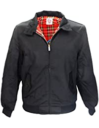 WARRIOR Black Harrington Jacket With Tartan Lining Retro/Mod/Scooter S - 3XL
