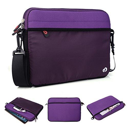 Kroo Tablet/Laptop Hülle Sleeve Case mit Schultergurt für Allview Viva H1001LTE violett violett