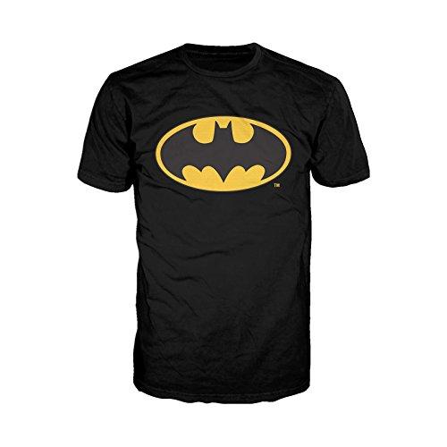 DC Comics Batman Logo Classic Official Men's T-Shirt (Black) (XX-Large)