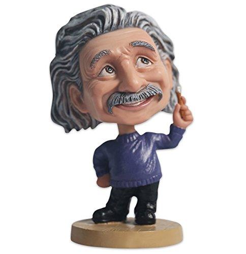 Ozuko Albert Einstein Wackelkopffigur für Auto-Armaturenbrett, Schreibtisch oder als Dekoration für zu Hause., blau, M (Dekoration Zu Hause)